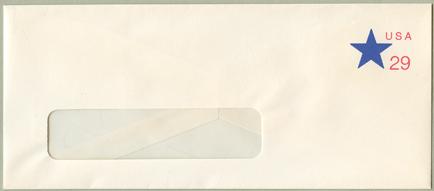切手付封筒 星29c(大)