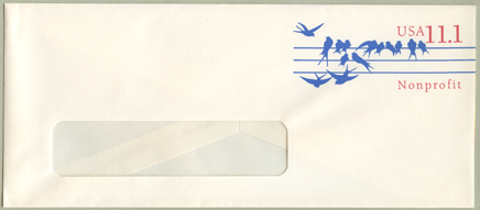 切手付封筒 鳥(大)