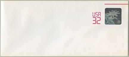 切手付封筒 宇宙開発ホログラム32c