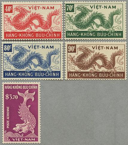 1952年航空切手5種